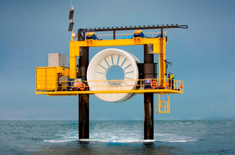 Image of open hydro system used for harnessing tidal energy image.
