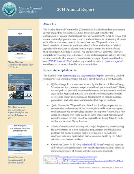 Annual Reports - Marine Mammal Commission